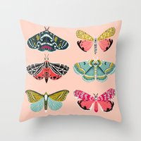 Lepidoptery No. 1 by Andrea Lauren  Throw Pillow