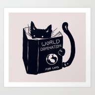 World Domination For Cat… Art Print