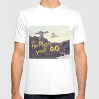 Oh the places  you'll go Mens Fitted Tee White SMALL