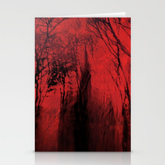 Blood red sky Stationery Card