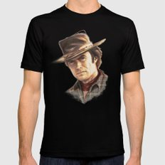 Clint Eastwood tribute Mens Fitted Tee Black SMALL