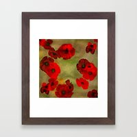 REDFLOWERS Framed Art Print
