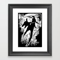 Animals and humans Framed Art Print