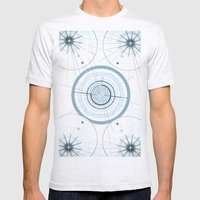 Circle art Mens Fitted Tee Ash Grey SMALL
