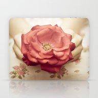 Rose In Her Hands III Laptop & iPad Skin