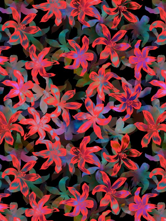 Tropical Serenade - Black Canvas Print