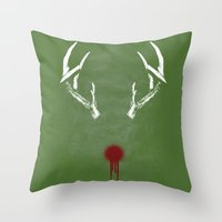 Rudolph The Bloody Nosed… Throw Pillow