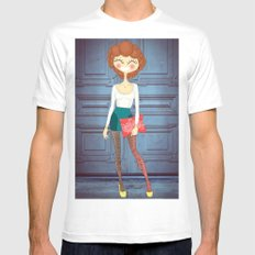 Lady Lady White SMALL Mens Fitted Tee