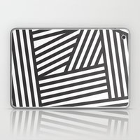 Black Stripes Laptop & iPad Skin