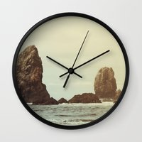 Sea Stacks (Cannon Beach, Oregon) Wall Clock