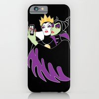 iPhone Cases featuring Grimhilde & Maleficent Selfie by SwanStarDesigns