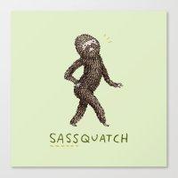 Sassquatch Canvas Print