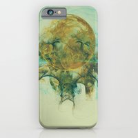 iPhone & iPod Case featuring Moon Talking Nebula Fractal Abstract Design Energy Art by Virtualkee