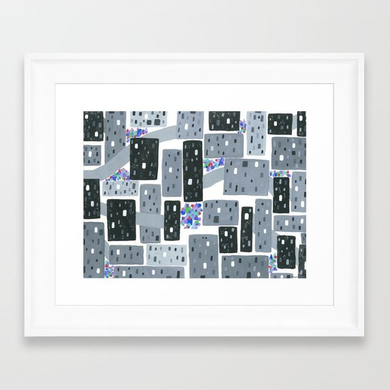 Occupy Movement Granules, Forgotten City, Metro Population < 500,000 Framed Art Print
