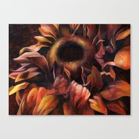 Brown Sunflower Canvas Print