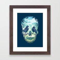Nature's Skull Framed Art Print