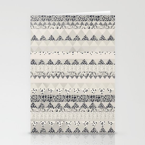 MONOTONE  GEOMETRIC ANIMAL PRINT  Stationery Card