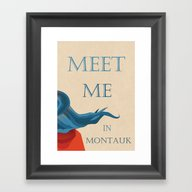 Meet Me In Montauk Framed Art Print