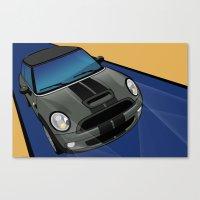 Mini Cooper - Pop Art Canvas Print