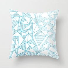 Abstraction Lines Watercolour Throw Pillow