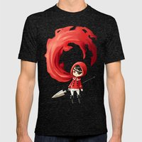 Red Cape Mens Fitted Tee Tri-Black SMALL