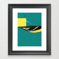 wing tear Framed Art Print