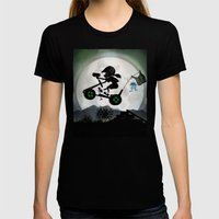 Halo Kid Womens Fitted Tee Black SMALL