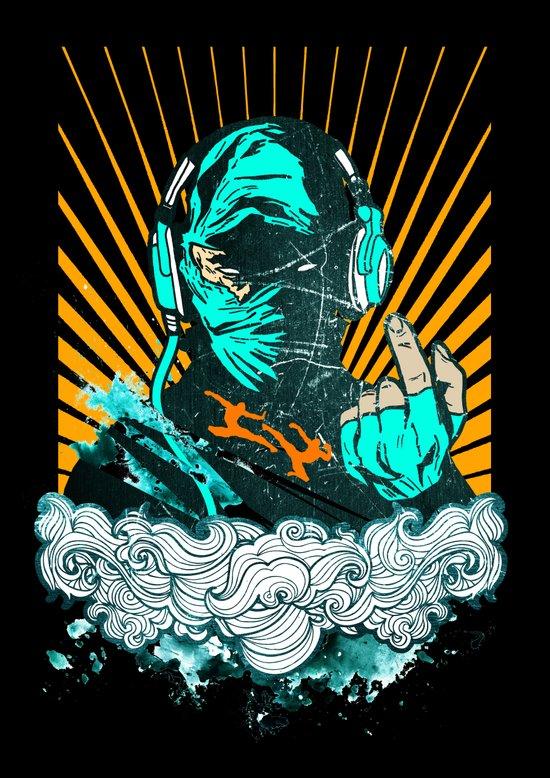 Ninja Beats Art Print