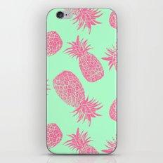 Pineapple Pattern - Mint & Crimson iPhone & iPod Skin