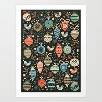 Festive Folk Charms Art Print