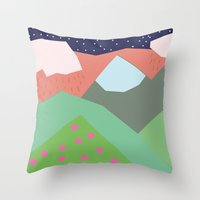 Them Hills Throw Pillow