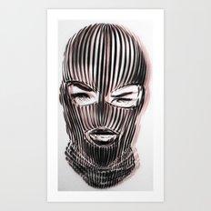 Badwood 3D Ski Mask Art Print