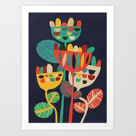 Art Print featuring Wild Flowers by Budi Kwan