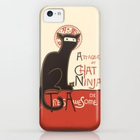 iPhone Cases featuring A French Ninja Cat (Le Chat Ninja) by Kyle Walters