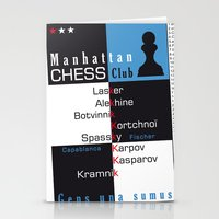 Manhattan Chess Club Poster Stationery Cards