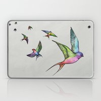 Swallows in Flight Laptop & iPad Skin