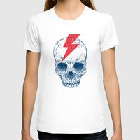 skull T-shirts featuring Skull Bolt by Rachel Caldwell