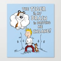 The Tiger in My Brain Canvas Print