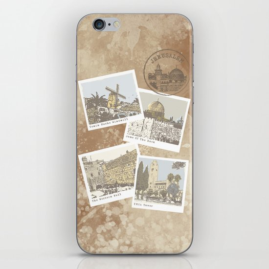 vintage jerusalem iPhone & iPod Skin