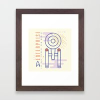 MNML: NCC-1701 Framed Art Print