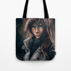 Lightning from Final Fantasy 13 Painting Tote Bag