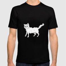Neurotic Cat Mens Fitted Tee SMALL Black