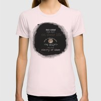 Moon Womens Fitted Tee Light Pink SMALL
