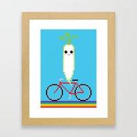 Daikon Bike Framed Art Print