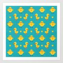 CHICKS AND DUCKLINGS Art Print