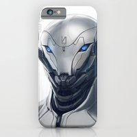 iPhone Cases featuring Grey Fox by Ben Mauro