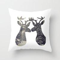 Love You Deer Throw Pillow