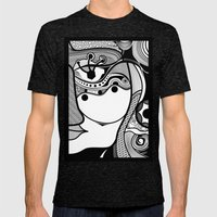 Warmi face Mens Fitted Tee Tri-Black SMALL