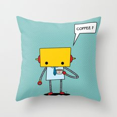coffee? Throw Pillow