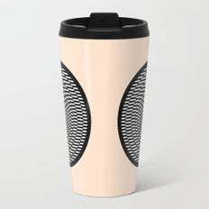 Simple Modern Stripes Circular Print Travel Mug